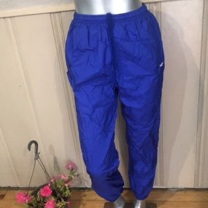 Vintage Adidas High Waist Blue Track Pants with Ankle Zippers Size Medium